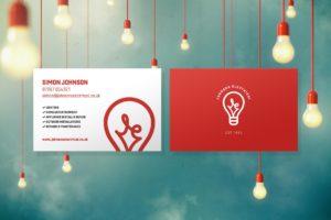 Electrician Business Card Design