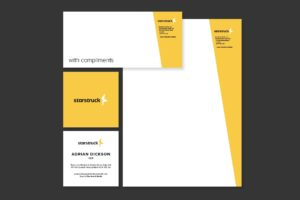 Television Video Production Stationery Design