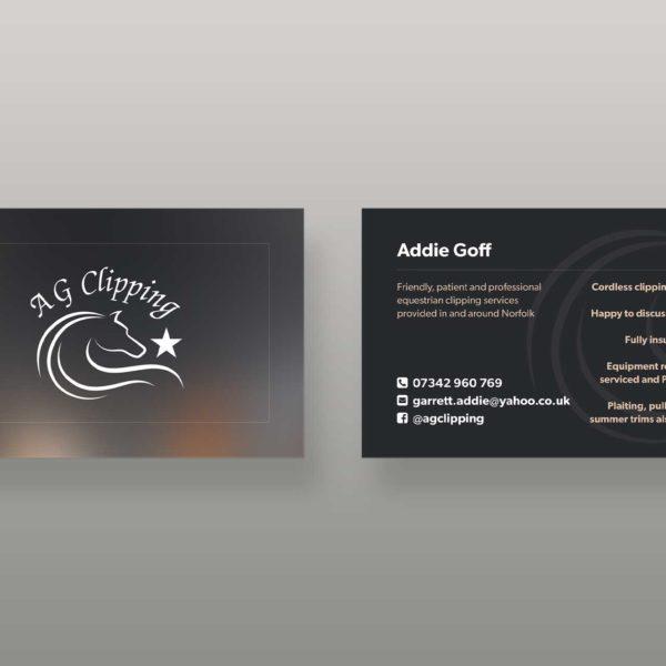 Equestrian Business Card Design