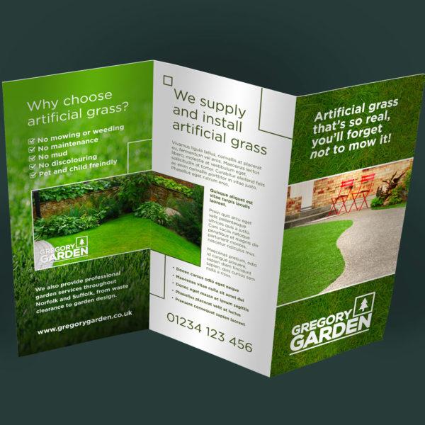 Gardening Landscaping Leaflet Design