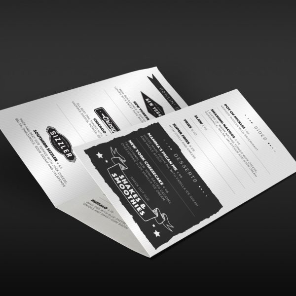 Food Leaflet Design