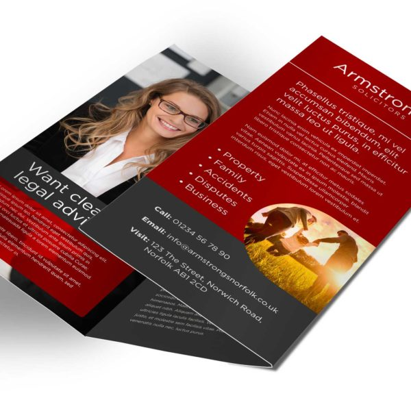 Lawyer Solicitor Leaflet Design