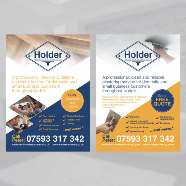 Plastering Carpentry Flyer