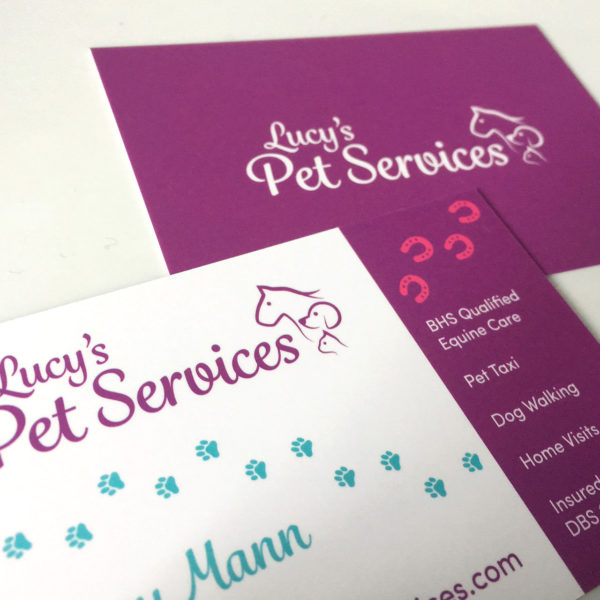 Lucy's Pet Services Dog Grooming Business Cards