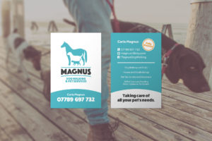 Dog Walking Pet Services Business Cards