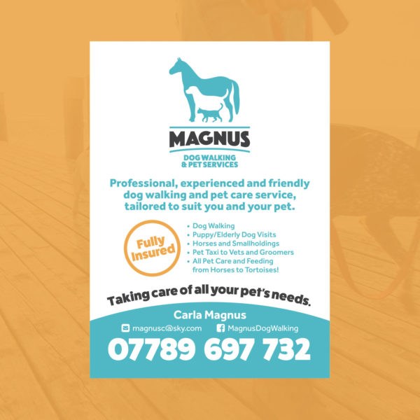 Dog Walking Pet Services Flyer