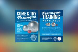Petanque Sports Club Flyer