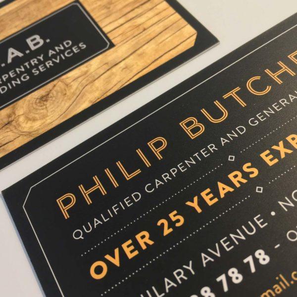 Builder Carpenter Business Cards